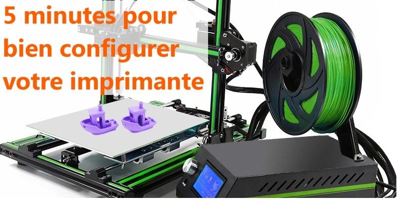 configuration imprimante 3D