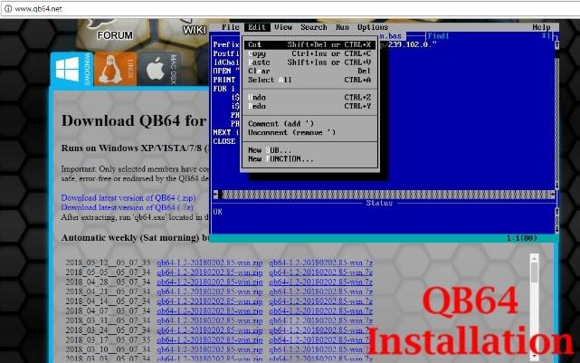 installez qb64 ide