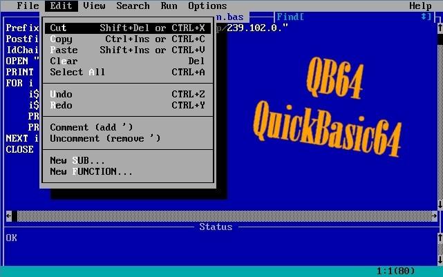 programmer en qbasic64