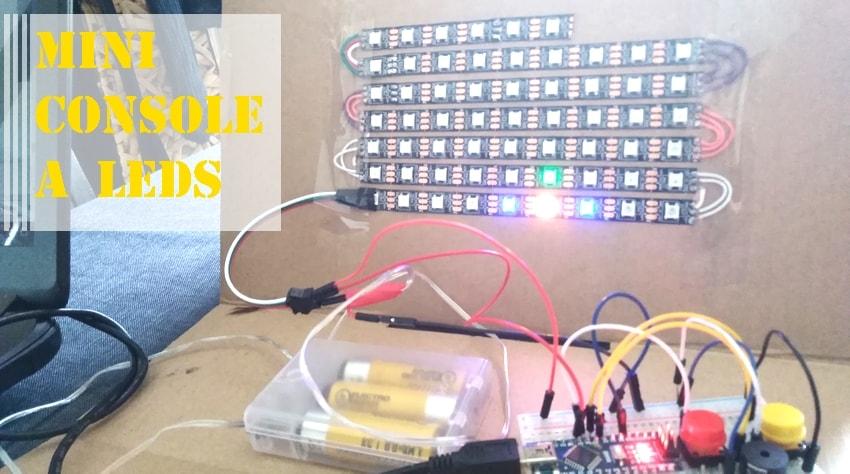 projet arduino de console via leds