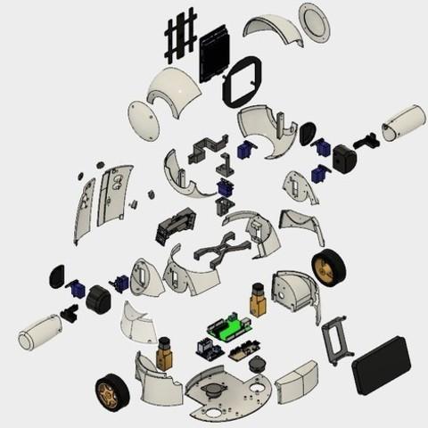 Elements imprintés du joyRobot
