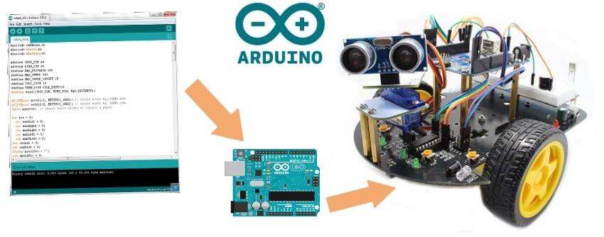 arduino robot car programmation code